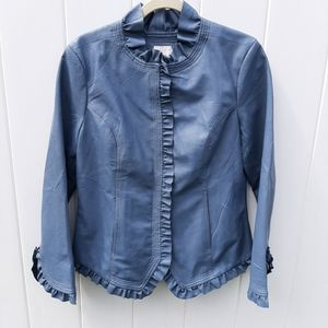Hot in Hollywood Blue Leather Jacket